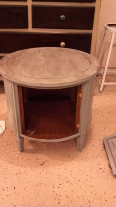 Fab Rehab Creations: Repurposed End Table from the 70's made into pet bed / hideout  ***** see next pin for the AFTER
