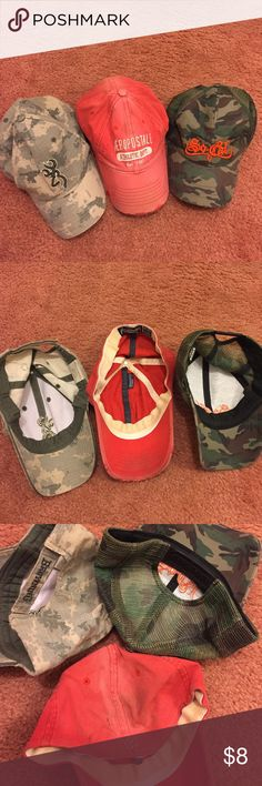 3 Caps! Browning practically new. Aeropostale shoes wear. So Cal practically new. Aeropostale Accessories Hats