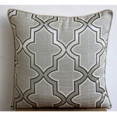 Handmade Grey Decorative Pillow Cover 16x16 by TheHomeCentric