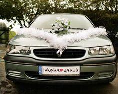 Dekoracja weselna auta auto na ślub samochód Oryg.