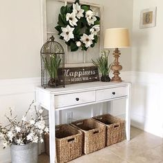 "71 Likes, 4 Comments - Kristina Hollinger (@simplyfeng_shui) on Instagram: ""How charming is this foyer?! Decorating your entrance with such beauty will raise the chi of your…"""