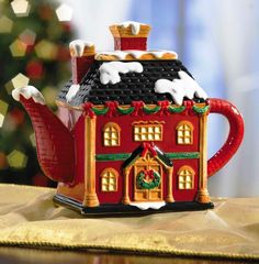 """VICTORIAN TEAPOT (CHRISTMAS) """"BRAND NEW"""" BEAUTIFUL HOME DECORATION !!!"""