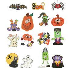 Halloween sampler applique jumbo machine embroidery designs