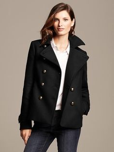 Great update to a tradition - Pea Coat from Banana Republic
