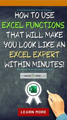 FREE Microsoft Excel Training! Join THOUSANDS of professionals who have taken these free Excel Masterclasses to fast track their skills in Excel and give them a career boost! Formulas, Macros, Pivot Tables, Power Query you name it! Time to STAND OUT from the crowd! #MyExcelOnline Excel for Beginners | Microsoft Excel Formula Tips and Tutorials | #Excel #MSExcel #MicrosoftExcel #ExcelMasterclass #MyExcelOnlineAcademy Computer Basics, Computer Help, Computer Technology, Computer Programming, Excel Cheat Sheet, Microsoft Excel Formulas, Excel For Beginners, Excel Hacks, Excel Budget Template