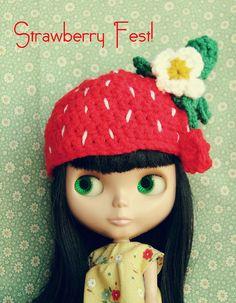 Blythe-Strawberry hat!