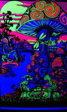 Mushroom black light poster. Had this in high school. So awesome.