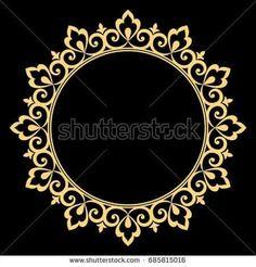 Mirror Frames Damask Stencil, Stencil Patterns, Stencil Designs, Painting Patterns, Mandala Painting, Mandala Art, Deco Paint, Eid Crafts, Black White Art