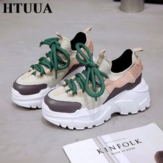 brand new 780b3 c84ee HTUUA 2019 Spring Autumn Women Casual Shoes Comfortable Platform Shoes  Woman Sneakers Ladies Trainers chaussure femme SX1450
