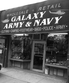 NYC Military Store-military sizing. Good to know