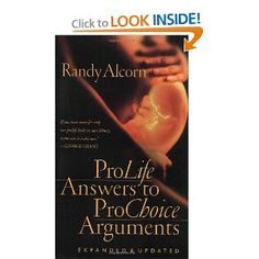 """As politicians, citizens, and families continue the raging national debate on whether it's proper to end human life in the womb, resources like Randy Alcorn's Prolife Answers to Prochoice Arguments have proven invaluable. With over 75,000 copies in print, this revised and updated guide offers timely information and inspiration from a """"sanctity of life"""" perspective. Real answers to real questions about abortion appear in logical and concise form."""