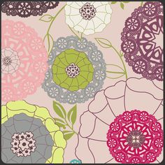 Art Gallery Fabric - Patricia Bravo Fabric -Modernology Collection - Avant Garden in Blush. $8.25, via Etsy.