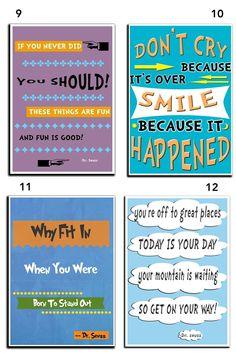 "Dr. Seuss Quote Art - 11""x17"" Posters!"