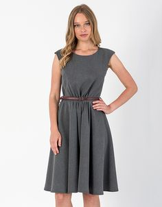 Αμάνικο φόρεμα με ζώνη | Toi&moi THE e-FASHION STORE