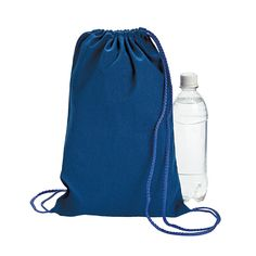 Blue Drawstring Backpacks - OrientalTrading.com