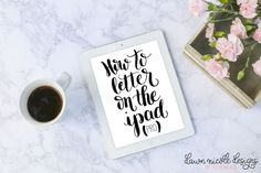 Hand Lettering with the iPad Pro + Apple Pencil | Dawn Nicole Designs™