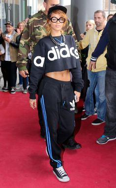 Rihanna steps out looking sporty in Cologne. What do you think of the look?
