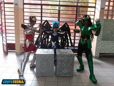 Raphael Calixto - Seiya de Pegasus, Fernando Calixto - Kagaho de Benu, Flavio Alexandre - Shiryu de Dragão (Saint Seiya)  #cosplay #saintseiya #dragonshiryucosplay #grupocosmix #cdz #cosplaycdz #forjadohefesto #shiryucosplay #shiryu #oscavaleirosdozodiaco #bronzeboy #cosplayboy #dragãoshiryu #kagaho #seiya #espectro #hades #athena #pandorabox #benu