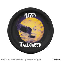 A Trip to the Moon Halloween Edition VIntage Cool Paper Plate  sc 1 st  Pinterest & Halloween Eye Paper Plates 9\
