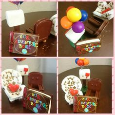 Up Disney Movie Wedding Cake Topper Custom Made Carl Ellie S Chairs Personalized Mail