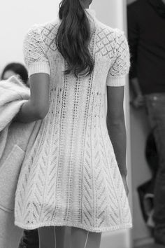 Knitwear Fashion, Knit Fashion, Hoodie Dress, Alberta Ferretti, Lace Knitting, Couture Fashion, Knit Dress, Fashion Design, Clothes
