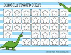 Dinosaur reward charts: Pink & blue   Free printable downloads from ChoreTell