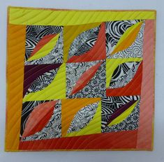 quilts und mehr: # 7 Blätter Versuch No. 2 / # 7 leaves trial no. One Day I Will, Mini Quilts, Leaves, Cabin, Blog, How To Make, Inspiration, Scrappy Quilts, Simple