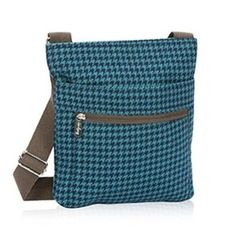 Thirty-One 31 Organizing Shoulder Bag - Teal Houndstooth - BRAND NEW sale L@@K #ThirtyOne #TotesShoppers