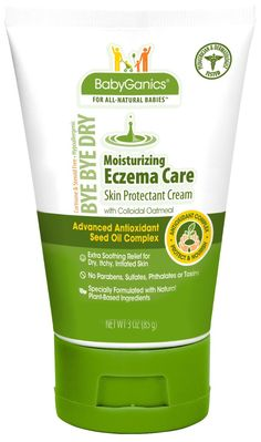 BabyGanics Bye- Bye Dry Eczema Cream. Loaded with natural, non-toxic ingredients and works like a charm! Amazing product!