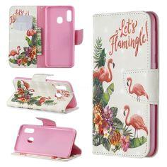 2019 的 Flower Flamingo 3D Painted Leather Wallet Phone Case for