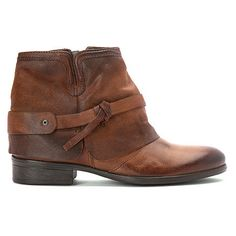 Miz Mooz Seymour Leather Ankle Boot in Brown Chestnut from Sous le Lit