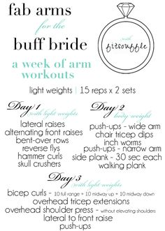fab arms for the buff bride....how about for the buff bridesmaid?
