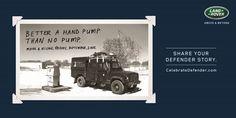 "#AdoftheWeek 1 July 2015: ""The Land Rover legacy #CelebrateDefender."" #CelebrateDefender pump."