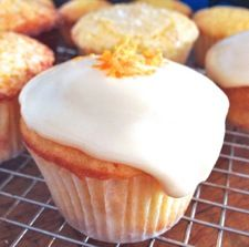 No dairy, no eggs, but these vegan cupcakes have plenty of flavor, and superb texture: they're moist and tender, and can easily be served without their frosting, if you're in a hurry. And when time's no object? The orange icing adds a tasty final touch. Bonus: if you have any Chinese friends, treat them to these cupcakes during their New Year's celebration; clementines (mandarins) are a sign of abundance and good fortune.