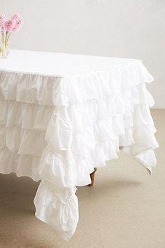 Decor/Accessories - Petticoat Tablecloth I anthropologie.com -