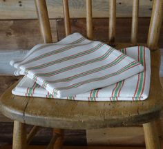 Rustic Dish Towel Handwoven Beige with Green by Dish Towels, Tea Towels, Host Gifts, Kitchen Linens, Hand Weaving, January 4, Stripes, Rustic, Handmade Gifts