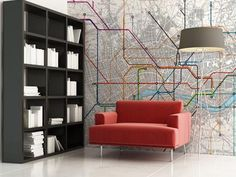 London subway map wall mural around the home pinterest find this pin and more on wallpaper by apaintedgypsy sciox Images