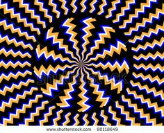 Hypnotizer  (motion illusiion):    zigzag, motion, wallpaper, decoration, illusion, jagged, vector, circle, spin, rotate, black, rotating, abstract, wheel, modern, illustration, optical illusion, round, decorative, hypnosis, backdrop, design, turning, stripes, blue, hypnotic, art, background, pattern