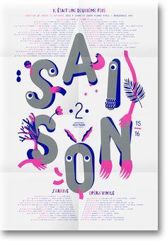 THÉÂTRE POUR 2 MAINS SAISON   Design graphique by Stéphanie Triballier