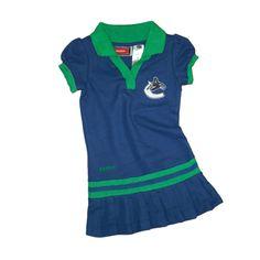 Vancouver Canucks Girls Toddler Polo Dress - IceJerseys.com Canada - Official  Fan Shop Vancouver e5068bf5c