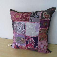 """16"""" Vintage Cushion Covers Throw Pillow Case Sofa Pillow Covers Urban Home Decor #Unbranded #Ethnic"""