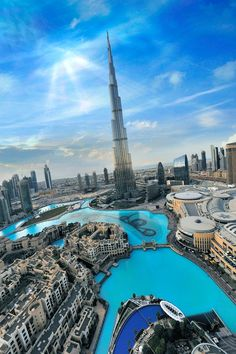 this is the tallest building in the world the Burj Khalifa its located in Dubai its about an hour from Abu Dhabi (the capital of UAE ;)