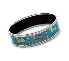 Hermes wide printed enamel bracelet      http://usa.hermes.com/jewelry/enamel-jewelry/printed-bracelets/blue/tenues-et-couvertures-bracelet-13934.html?generic_color_1=BROWN&size_sized_jewellery=65