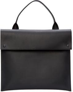 ebe77ba6a7a Marni Black Leather Tote Handbag Black Leather Tote