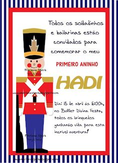 Toy soldier, Tin soldier party invitation  Invitacion de fiesta de soldadito de plomo