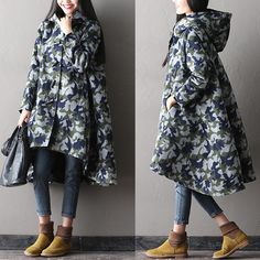 Women long Wool coat jacket - Buykud
