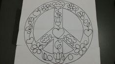 Boceto para bordado mexicano. Signo de la paz