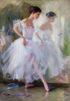 """Ballet Dancer"" - painting by Konstantin Razumov Ballerina Kunst, Ballerina Painting, Degas Ballerina, Art Ballet, Ballet Dancers, Ballerinas, Dance Paintings, Degas Paintings, Fairy Paintings"