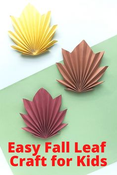 Easy Fall Leaf Craft for Kids Leaf Crafts, Glue Crafts, Fall Crafts, Autumn Leaves Craft, Kids Craft Supplies, Cute Kids Crafts, Fall Garland, Leaf Template, Fall Projects
