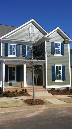 Composite Exterior Shutters On A New Construction Home Helps Add To The  Exterior Decor And Curb
